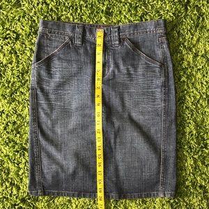 Express Skirts - Express Blue Jeans Midi Denim Pencil Skirt 4